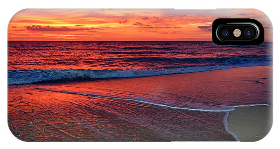 #capecod IPhone X Case featuring the photograph Red Sky In Morning by Dianne Cowen