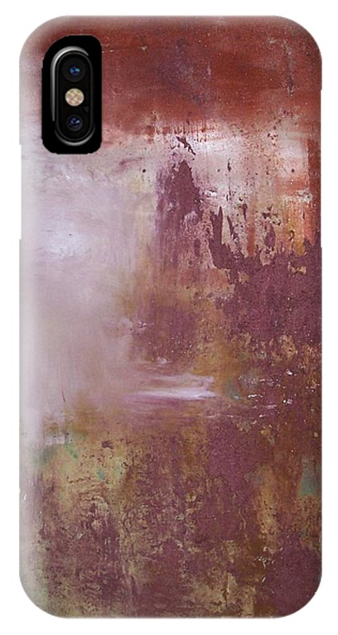 Mixed Media IPhone Case featuring the painting Red Sky Sold by Elizabeth Klecker
