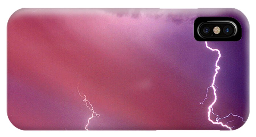 Sky IPhone X Case featuring the photograph Red Storm by Anthony Jones