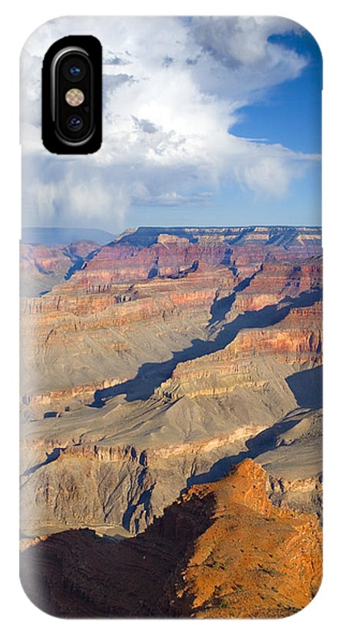 Grand Canyon IPhone X Case featuring the photograph Red Storm Rising by Mike Dawson