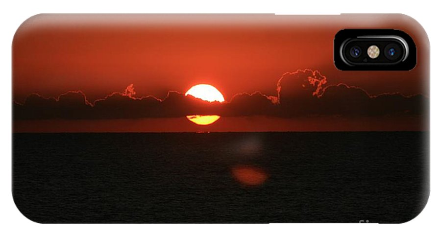 Sunset IPhone Case featuring the photograph Red Sunset Over The Atlantic by Nadine Rippelmeyer
