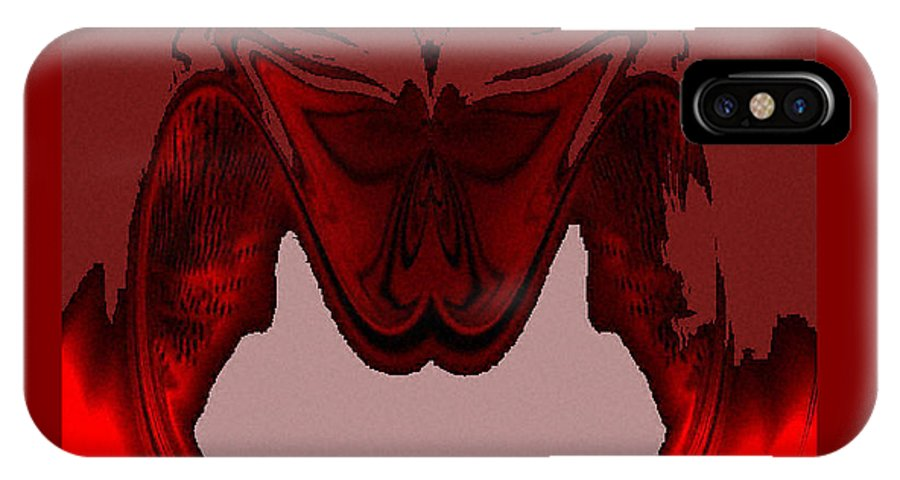 Digital IPhone X Case featuring the digital art Red Vision by Ilona Burchard