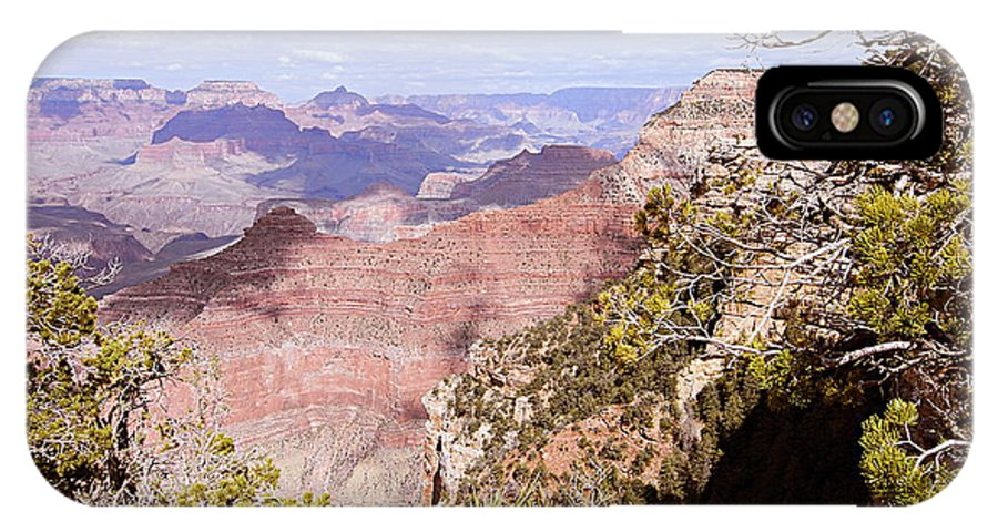 Grand Canyon National Park IPhone X Case featuring the photograph Red Wall - Grand Canyon by Larry Ricker