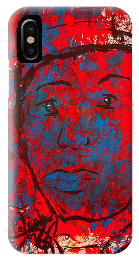 Man IPhone X Case featuring the painting Red White And Blue by Natalie Holland