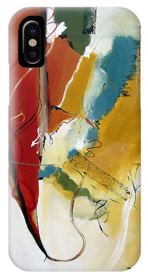 Christian Abstract IPhone X Case featuring the painting Redemption by Ruth Palmer