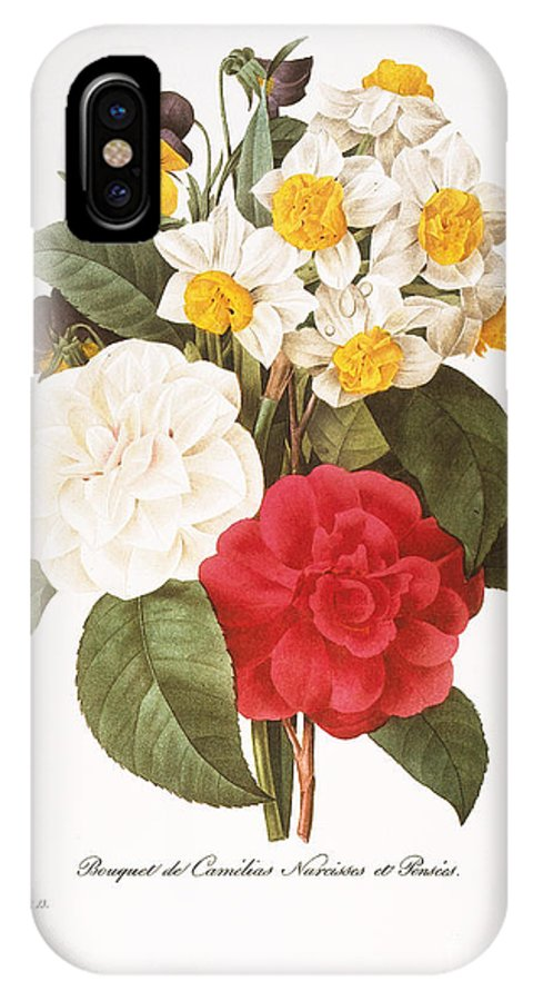1833 IPhone X Case featuring the photograph Redoute: Bouquet, 1833 by Granger