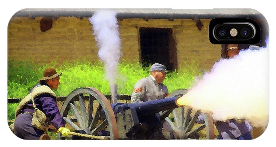 Civil War IPhone X Case featuring the photograph Reenactors 2 by Timothy Bulone