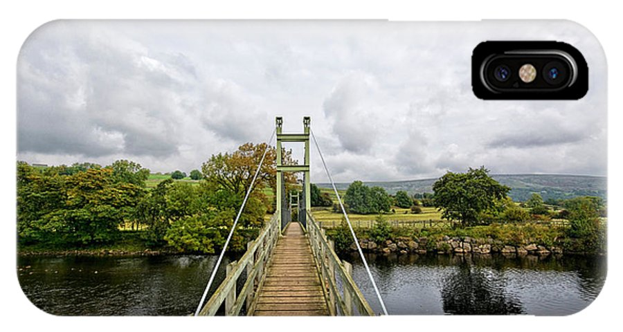Reeth Swing Bridge IPhone X / XS Case featuring the photograph Reeth Swing Bridge by Smart Aviation