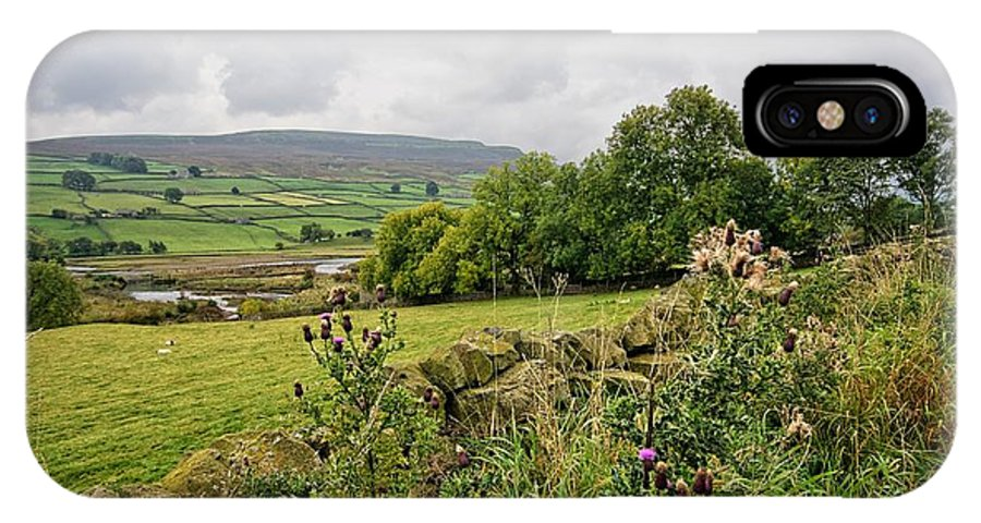 Reeth IPhone X / XS Case featuring the photograph Reeth Views by Smart Aviation