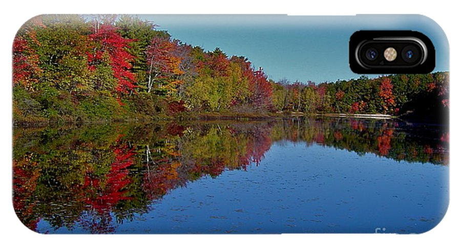 Autumn IPhone X Case featuring the photograph Reflected Color by Rick Monyahan