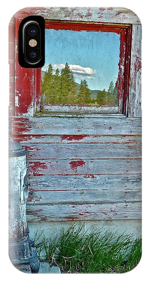 Barn IPhone X Case featuring the photograph Reflected View by Diana Hatcher