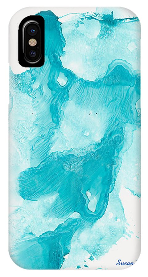 Angel IPhone X / XS Case featuring the painting Reflectiing Angels by Susan Kubes
