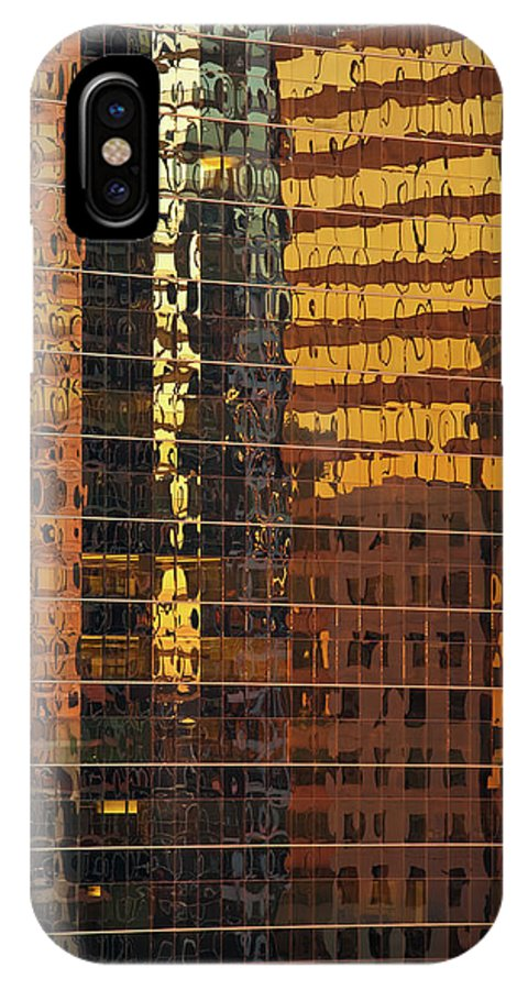 Chicago IPhone X Case featuring the photograph Reflecting Chicago by Steve Gadomski