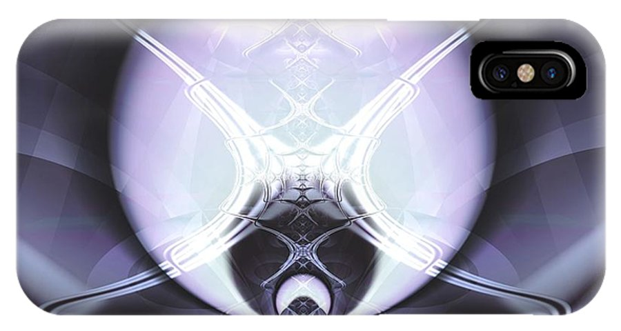 Digital Art IPhone Case featuring the digital art Reflecting Gateway by Frederic Durville