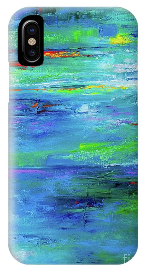 Art IPhone X Case featuring the painting Reflection-2 by Nutthawee Charusrisith
