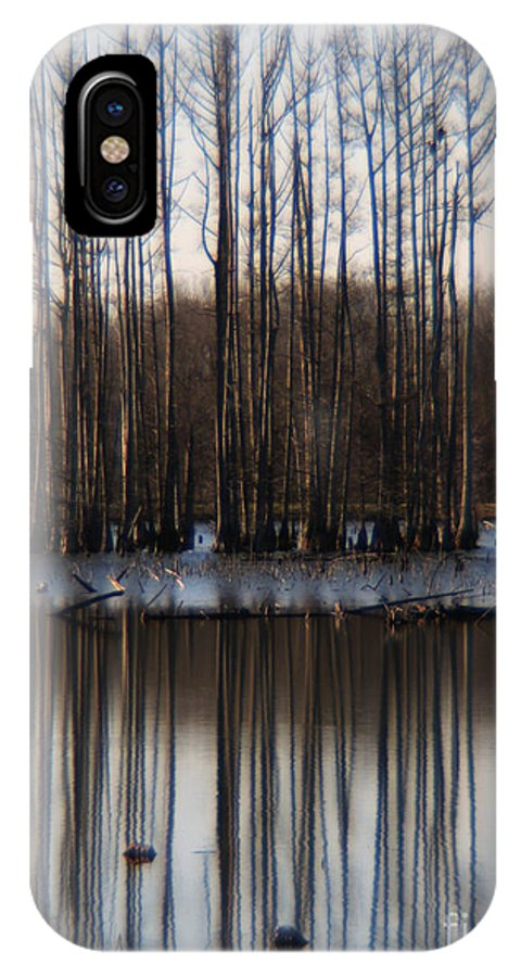 Nature IPhone X Case featuring the photograph Reflection by Amanda Barcon