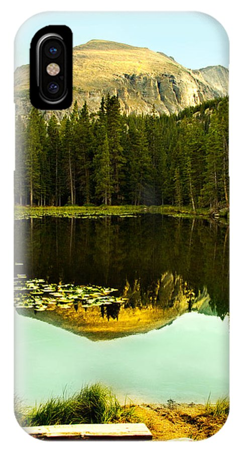 Reflection IPhone X Case featuring the photograph Reflection by Marilyn Hunt