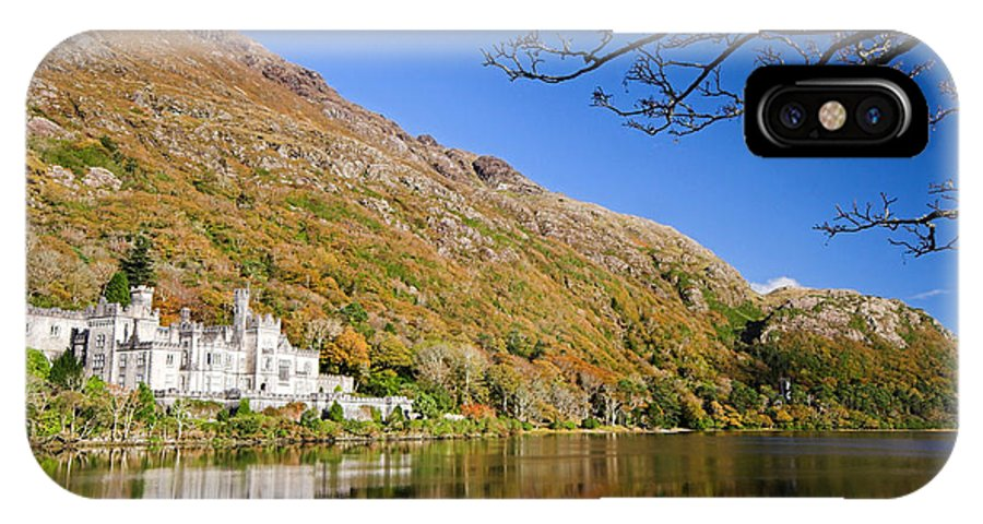 Kylemore Abbey IPhone X Case featuring the photograph Reflection Of Kylemore Abbey Connemara Ireland by Pierre Leclerc Photography