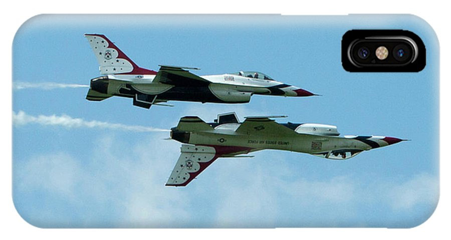 Thunderbirds IPhone X Case featuring the photograph Reflection Pass by Mark Milar