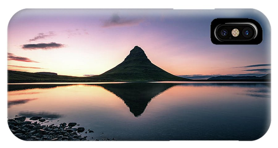Landscape IPhone X Case featuring the photograph Reflection by Siddhartha De