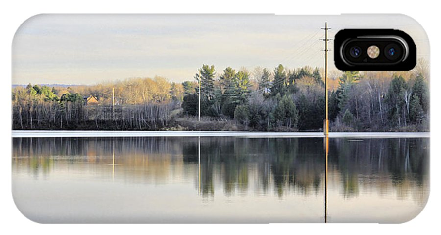 Water IPhone X Case featuring the photograph Reflections Across The Water by Deborah Benoit