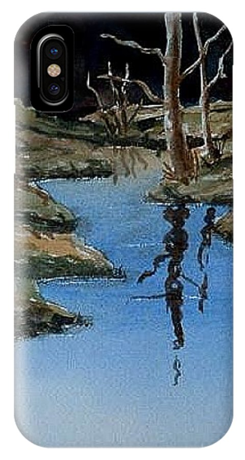 Water IPhone Case featuring the painting Reflections by Darla Brock