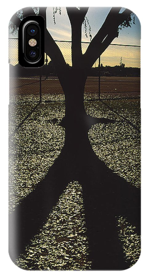 Tree IPhone X Case featuring the photograph Reflections in a Park by Randy Oberg