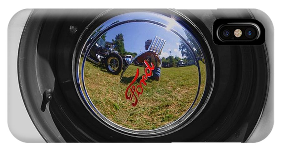 IPhone X / XS Case featuring the photograph Reflections Of A Carshow by Peter Feo