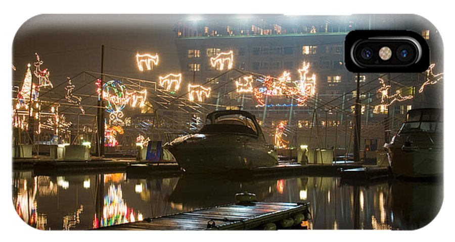 Christmas Lights IPhone X Case featuring the photograph Reflections Of Christmas by Idaho Scenic Images Linda Lantzy