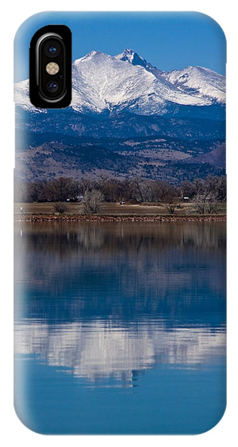 Twin Peaks IPhone X Case featuring the photograph Reflections Of The Twin Peaks by James BO Insogna