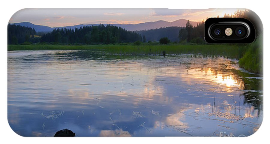 Reflection IPhone X Case featuring the photograph Reflections On Mica Bay by Idaho Scenic Images Linda Lantzy