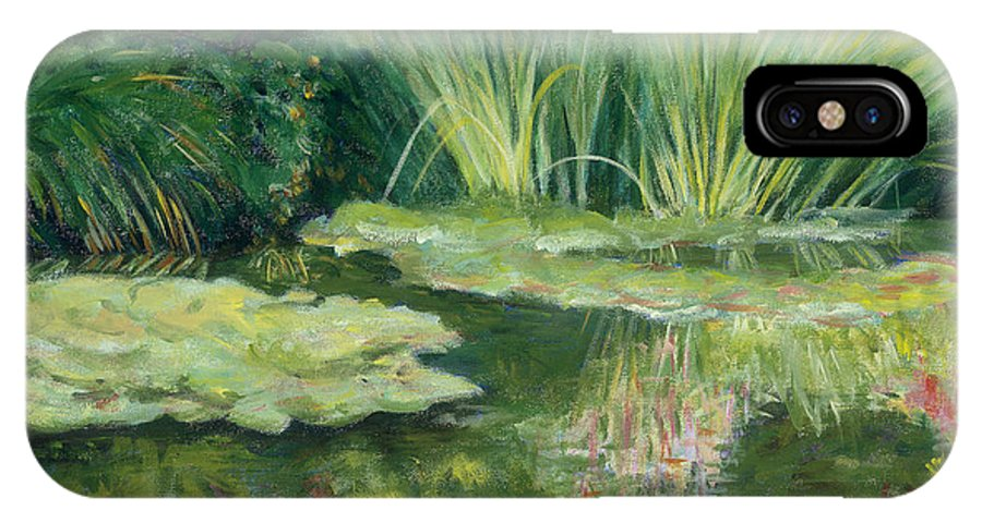 Impressionism IPhone Case featuring the painting Reflections On Monets Lily Pond by Tara Moorman