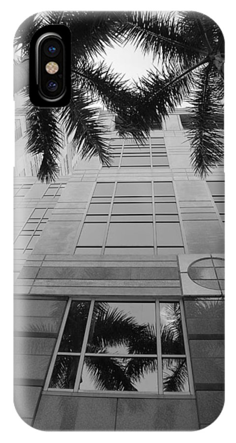 Architecture IPhone X Case featuring the photograph Reflections On The Building by Rob Hans