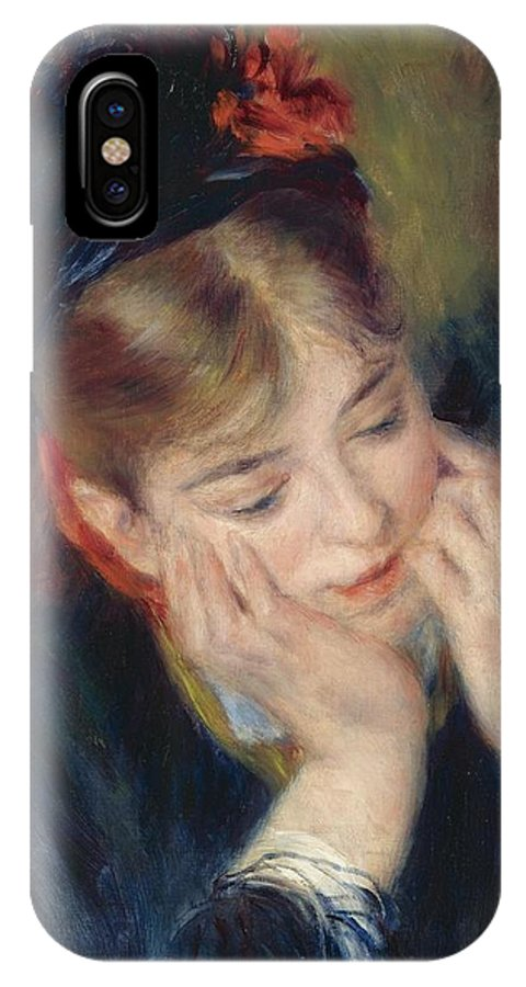 Pierre-auguste Renoir (french IPhone X / XS Case featuring the painting Reflexion by MotionAge Designs