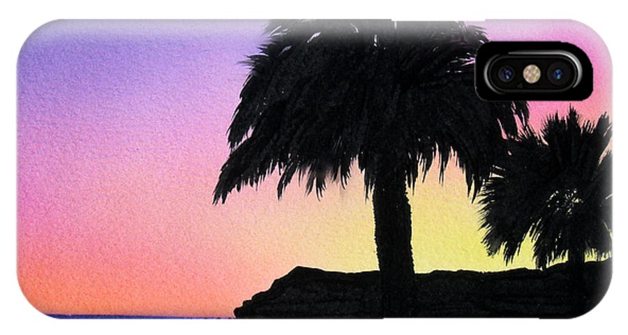 Beach IPhone X Case featuring the painting Refugio Point 1 by Angie Hamlin