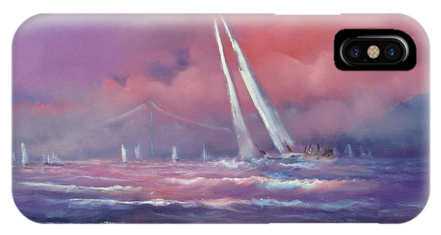 Sailing IPhone X Case featuring the painting Regatta by Sally Seago