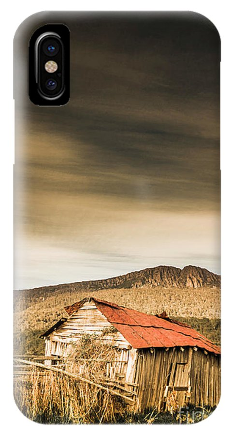 Countryside IPhone X Case featuring the photograph Regional Ranch Ruins by Jorgo Photography - Wall Art Gallery