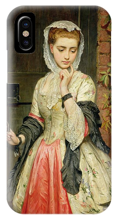 Rejected IPhone X Case featuring the painting Rejected Addresses by Charles Sillem Lidderdale