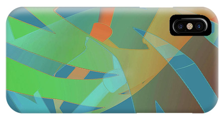 Abstract IPhone X Case featuring the digital art Relationship Dynamics by Jacqueline Shuler