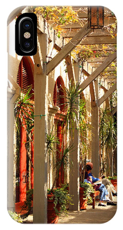 Arch IPhone X Case featuring the photograph Relaxing In The Breezeway by James Eddy