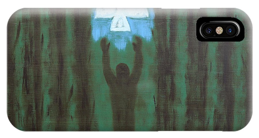 Doves IPhone X Case featuring the painting Releasing The Dove by Patrick J Murphy