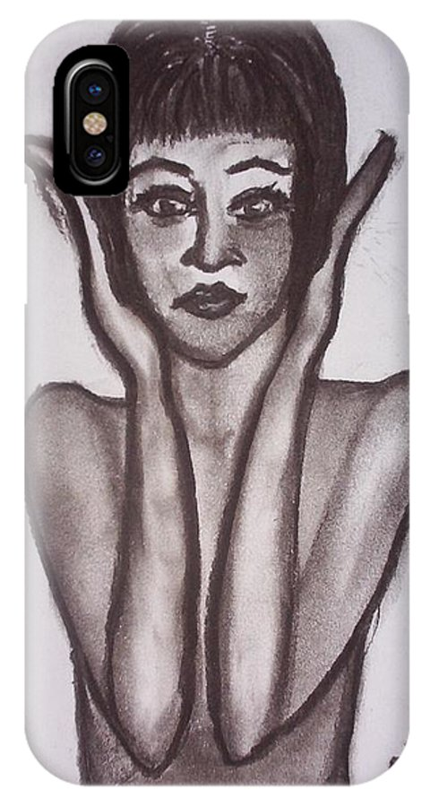 1920s IPhone X Case featuring the drawing Remember The 20s by Joan Stratton