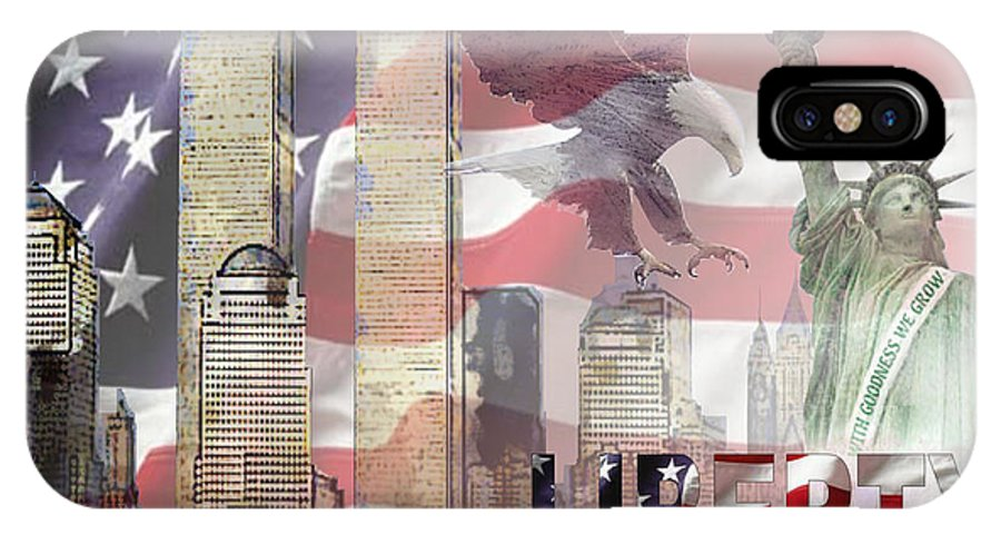 9/11 IPhone X Case featuring the digital art Remembering 9-ll by Arline Wagner