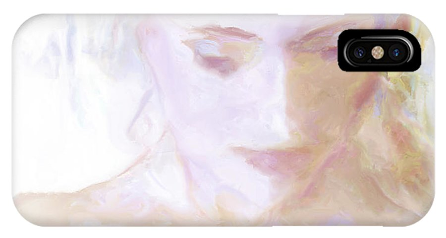 Haxton IPhone X Case featuring the painting ...remembering... by Lee Haxton
