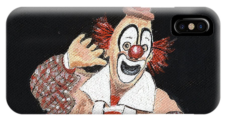 Clowns IPhone X Case featuring the painting Remembering Lou Jacobs by Arlene Wright-Correll