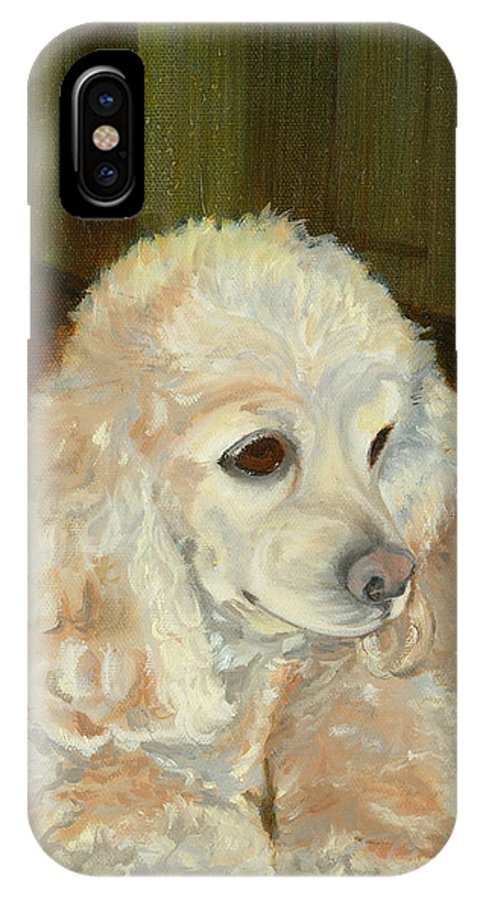 Animal IPhone X Case featuring the painting Remembering Morgan by Paula Emery