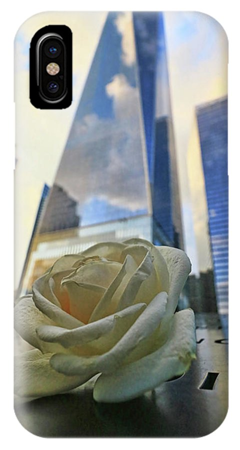 Memorial IPhone X Case featuring the photograph Remembering With A Rose by Allen Beatty