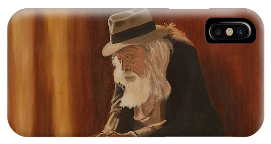 Man IPhone X Case featuring the painting Remembrance by Quwatha Valentine