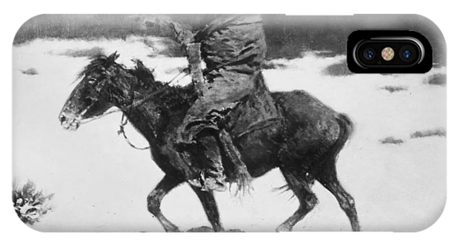 19th Century IPhone X Case featuring the photograph Remington: Luckless Hunter by Granger