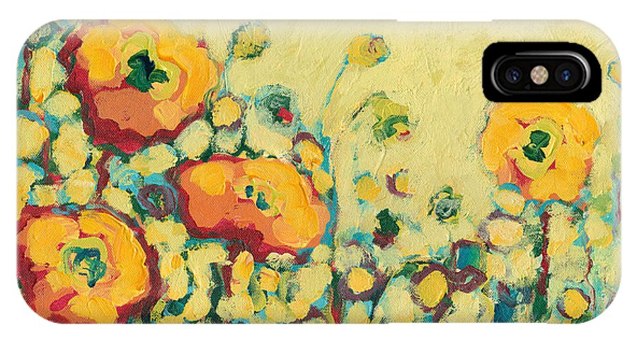 Floral IPhone X Case featuring the painting Reminiscing On A Summer Day by Jennifer Lommers